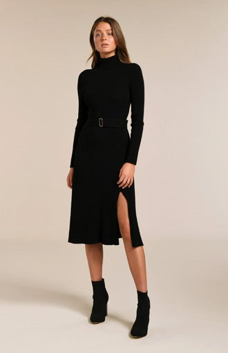 Stephanie Rib Midi Knit Dress