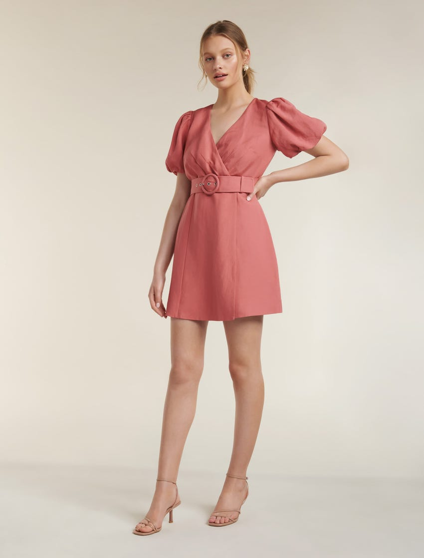 Maggie Linen Wrap Dress
