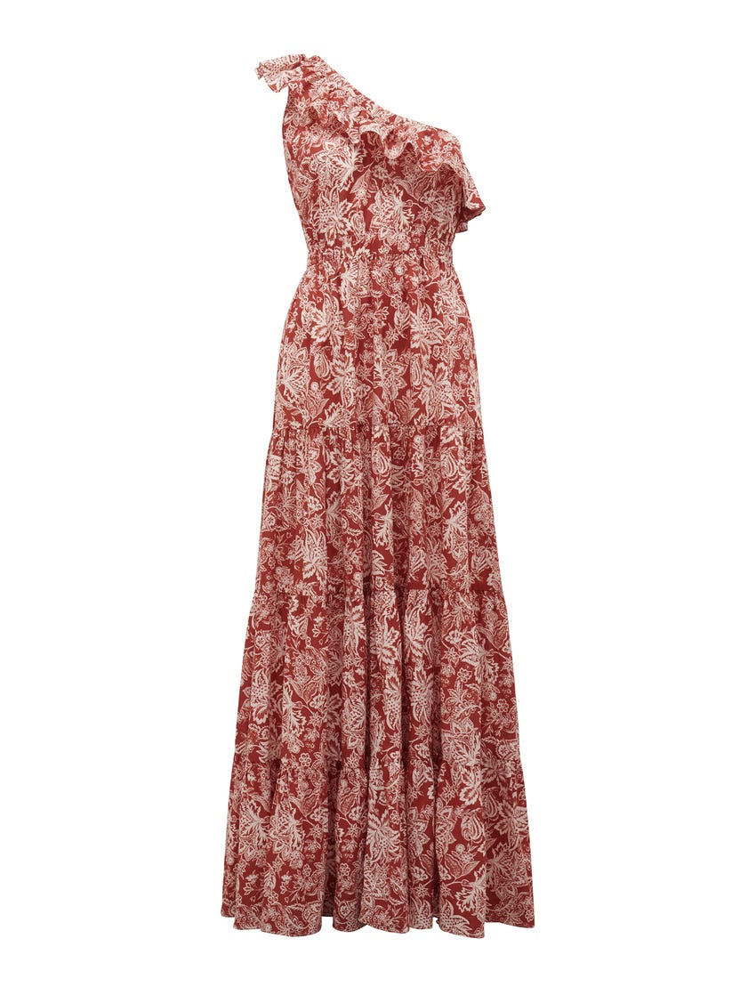 Carrie One-Shoulder Maxi Dress