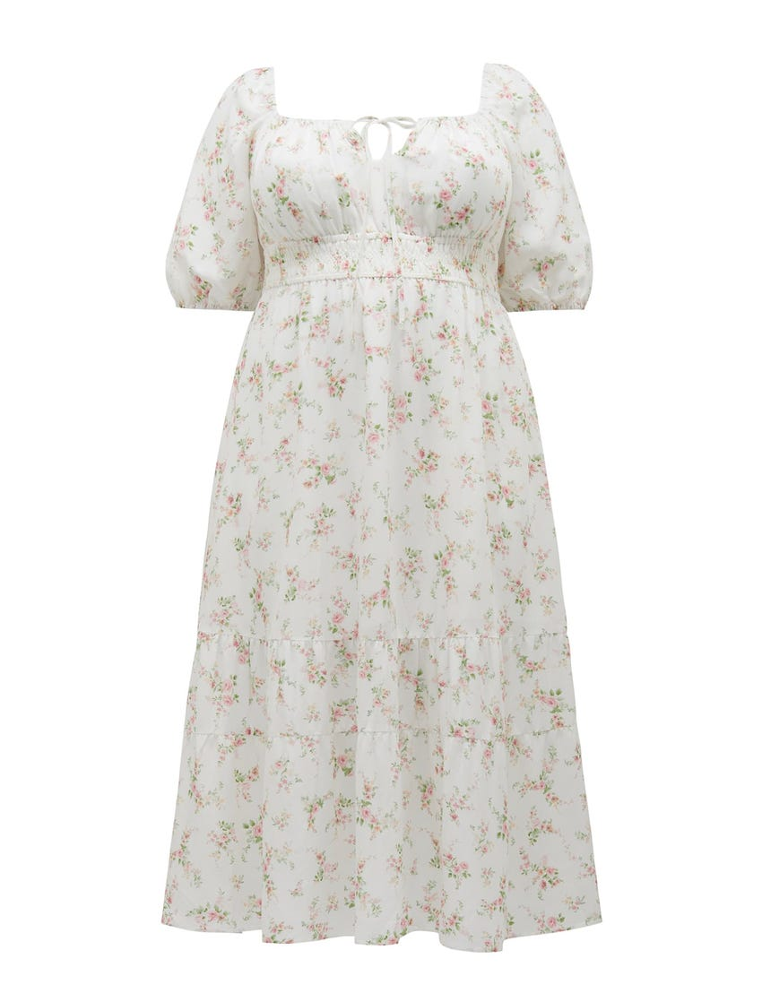 Josephine Curve Tiered Midi Dress
