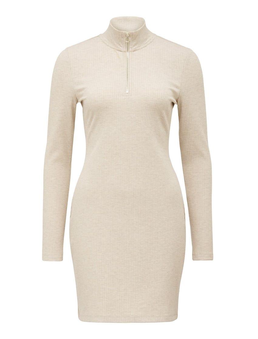 Kiara Polo Zip Mini Dress