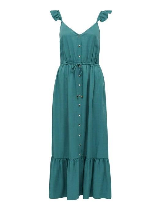 Amanda Frill Button-Front Dress