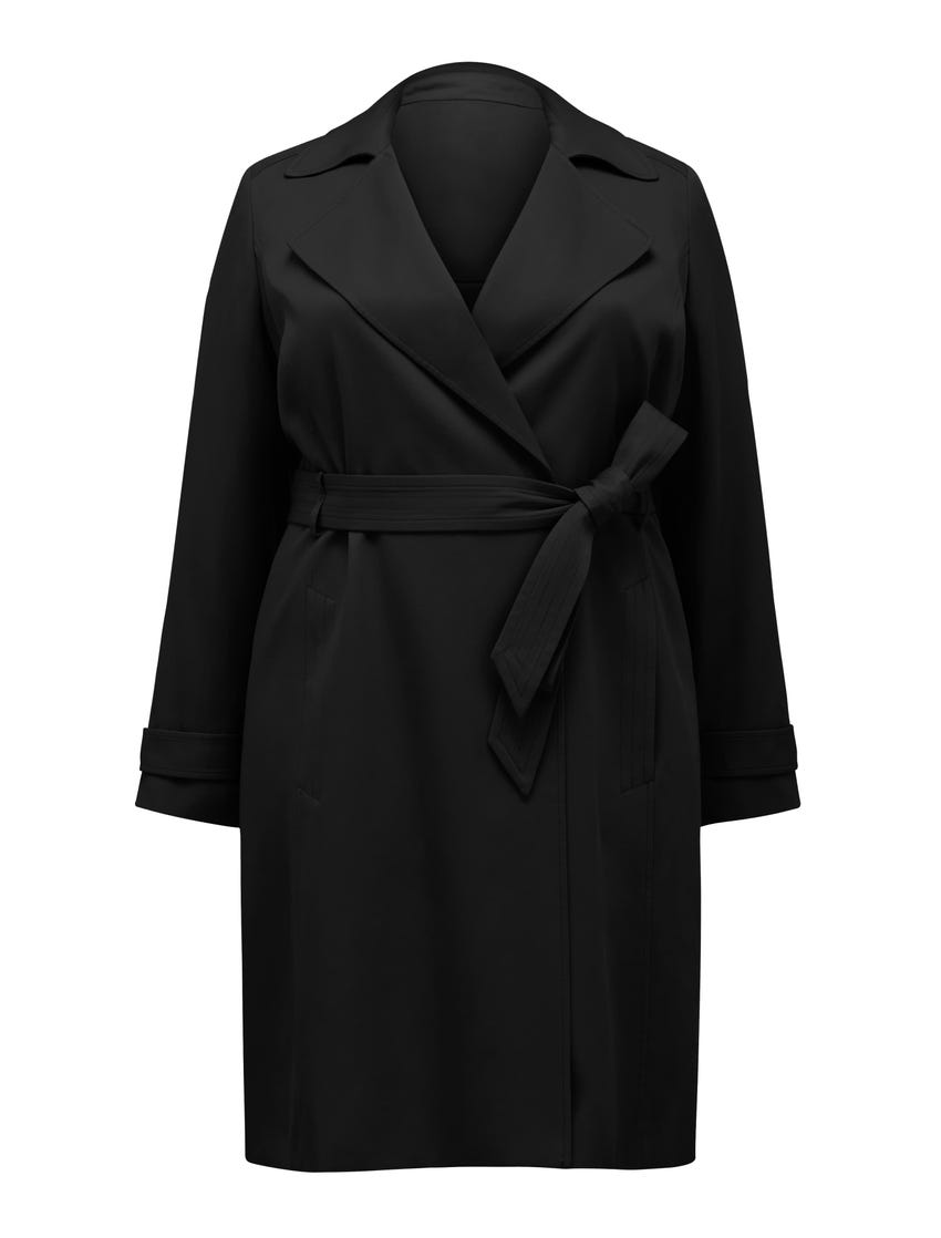 Lettie Curve Soft Trench Coat