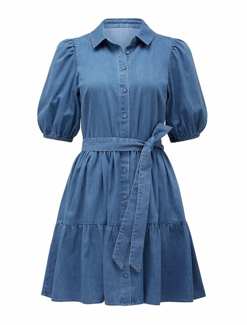 Maria Belted Denim Shirt Dress
