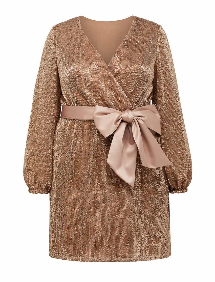 Frieda Curve Sequin Mini Dress