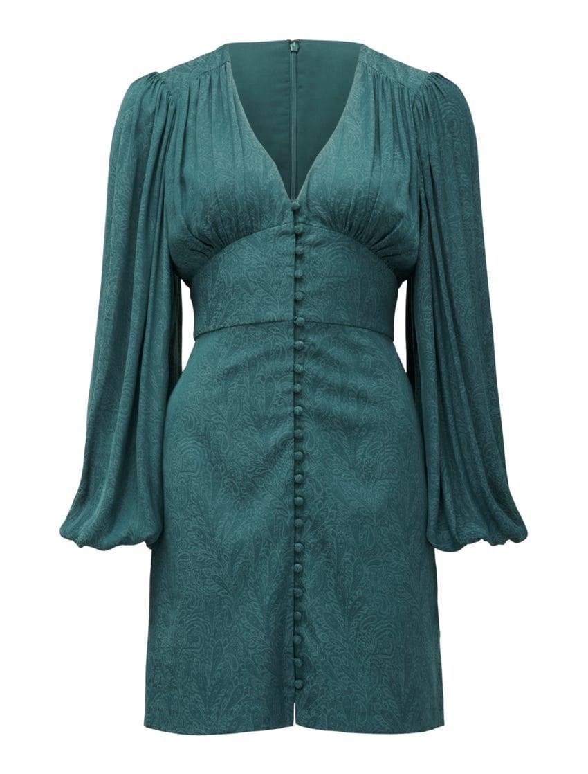 Rylie Button Detail Mini Dress