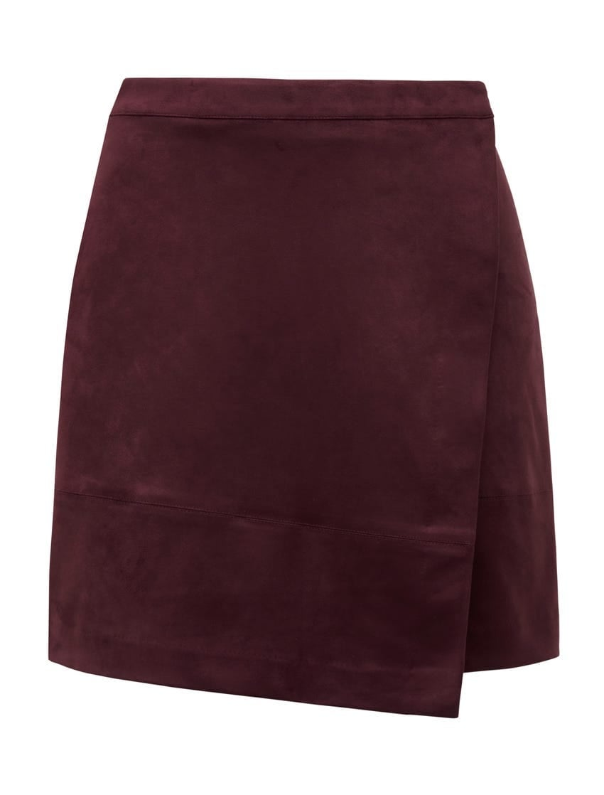 Tiffany Suedette Wrap Mini Skirt