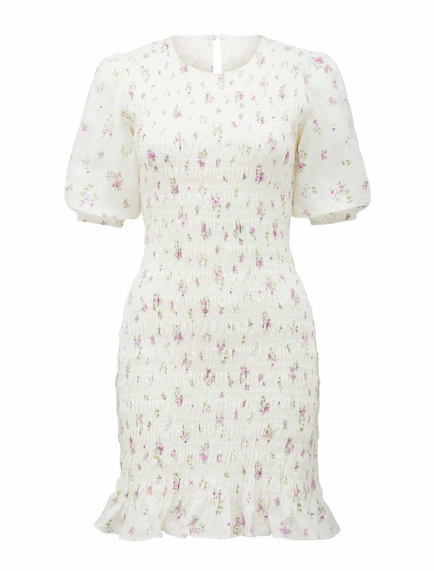 Alexa Shirred Mini Dress
