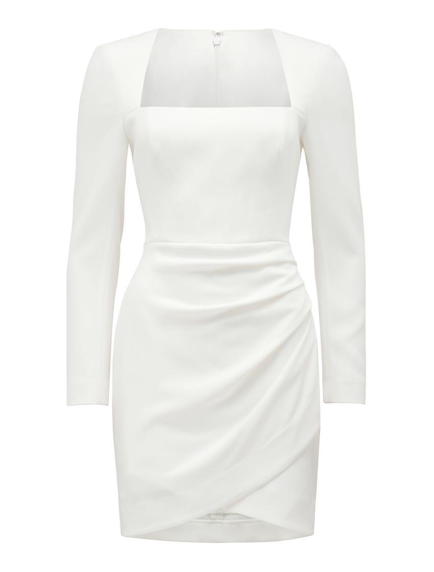Cara Long-Sleeve Mini Dress