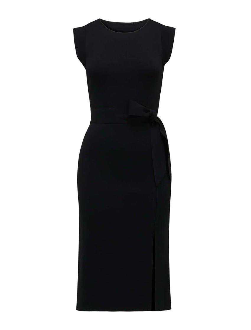 Ariana Front-Split Knit Dress