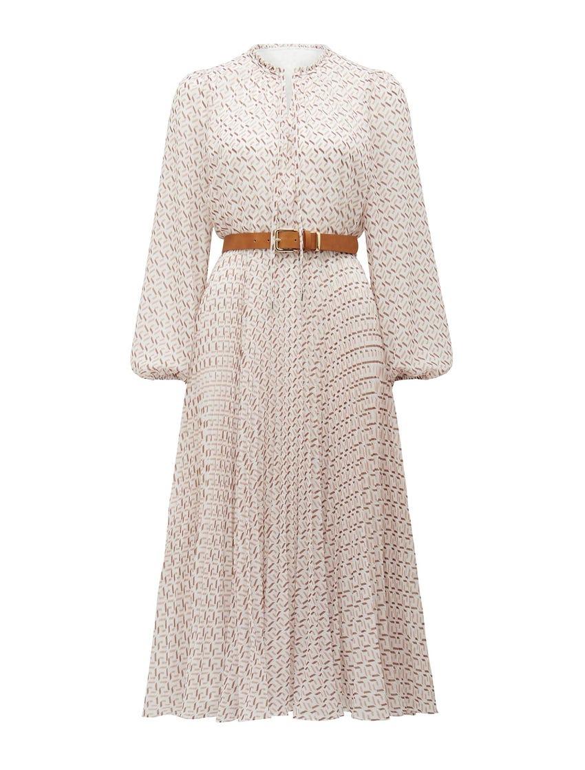 Carmen Pleated Midi Dress