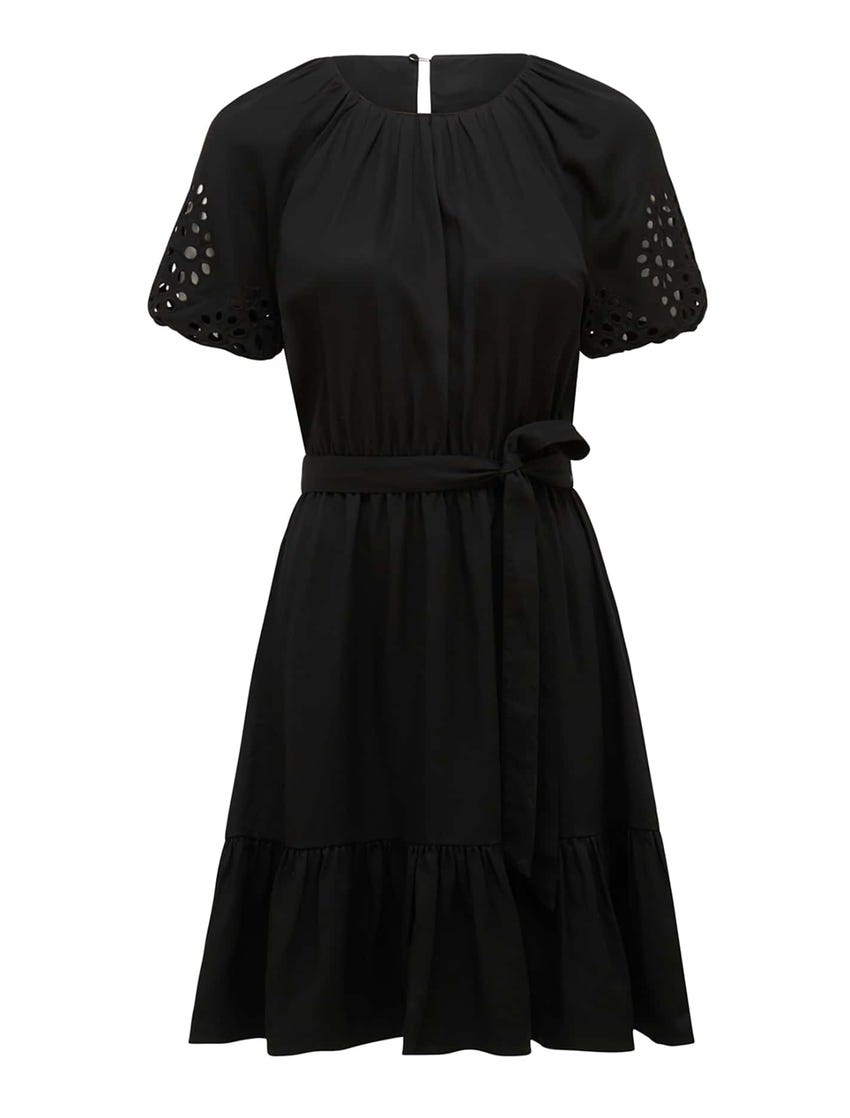 Becca Cutwork Embroidery Mini Dress