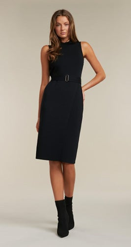 Sophia Belted Wrap Midi Dress