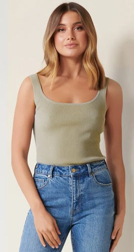 Eve Square-Neck Knit Tank