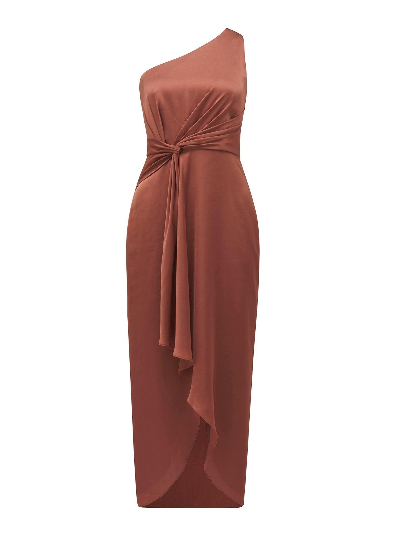 Haidee One-Shoulder Midi Dress