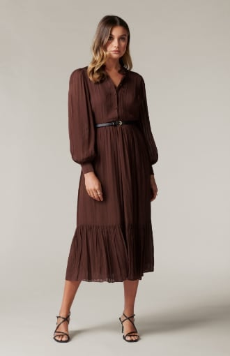 Everly Pintuck Midi Dress
