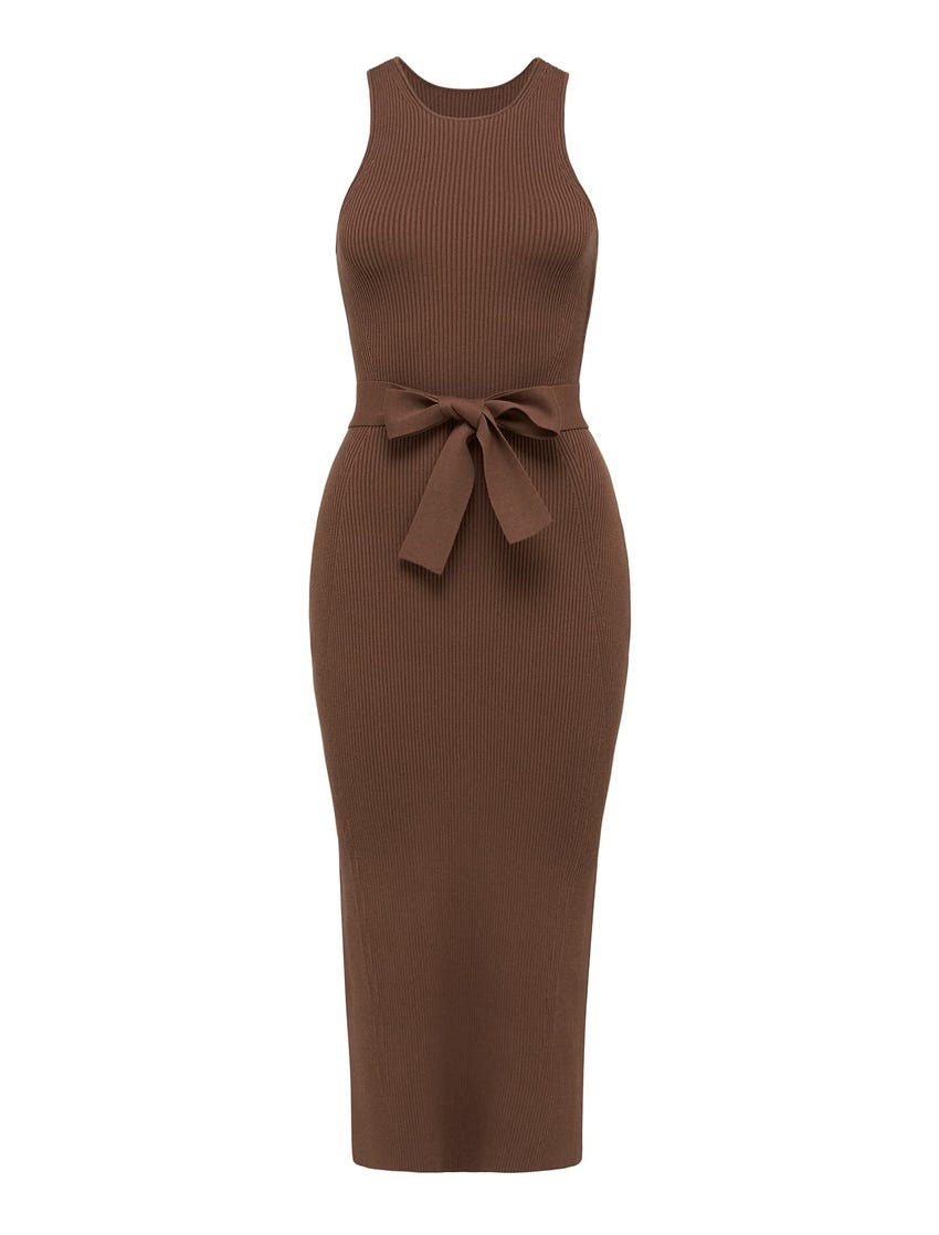 Ivy Racer Column Knit Midi Dress
