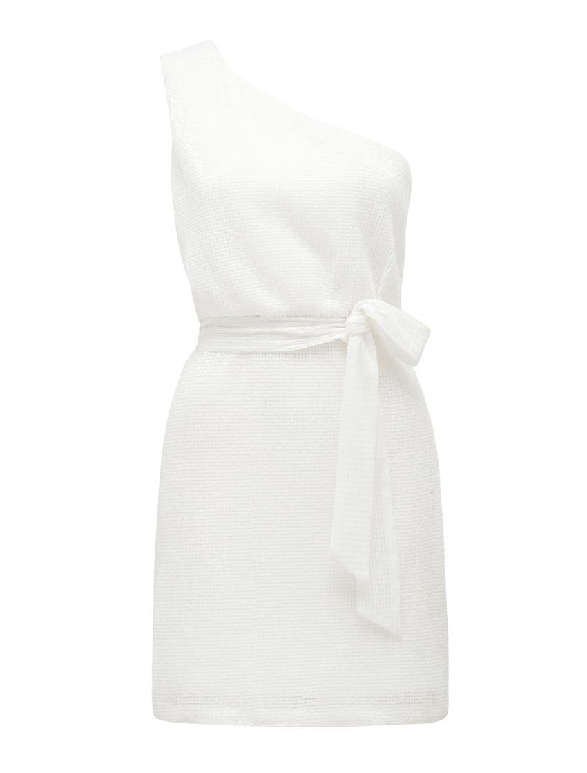 Jenna One-Shoulder Sequin Mini Dress