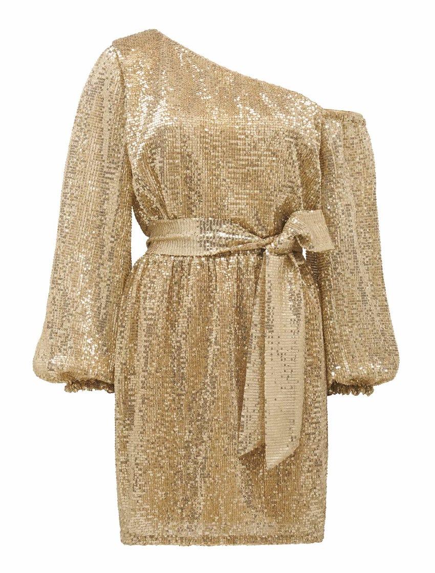 Kaylee One-Shoulder Sequin Dress