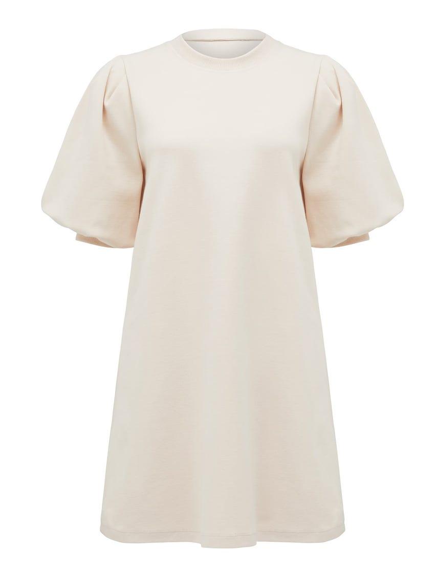 Lena Puff-Sleeve Sweater Dress