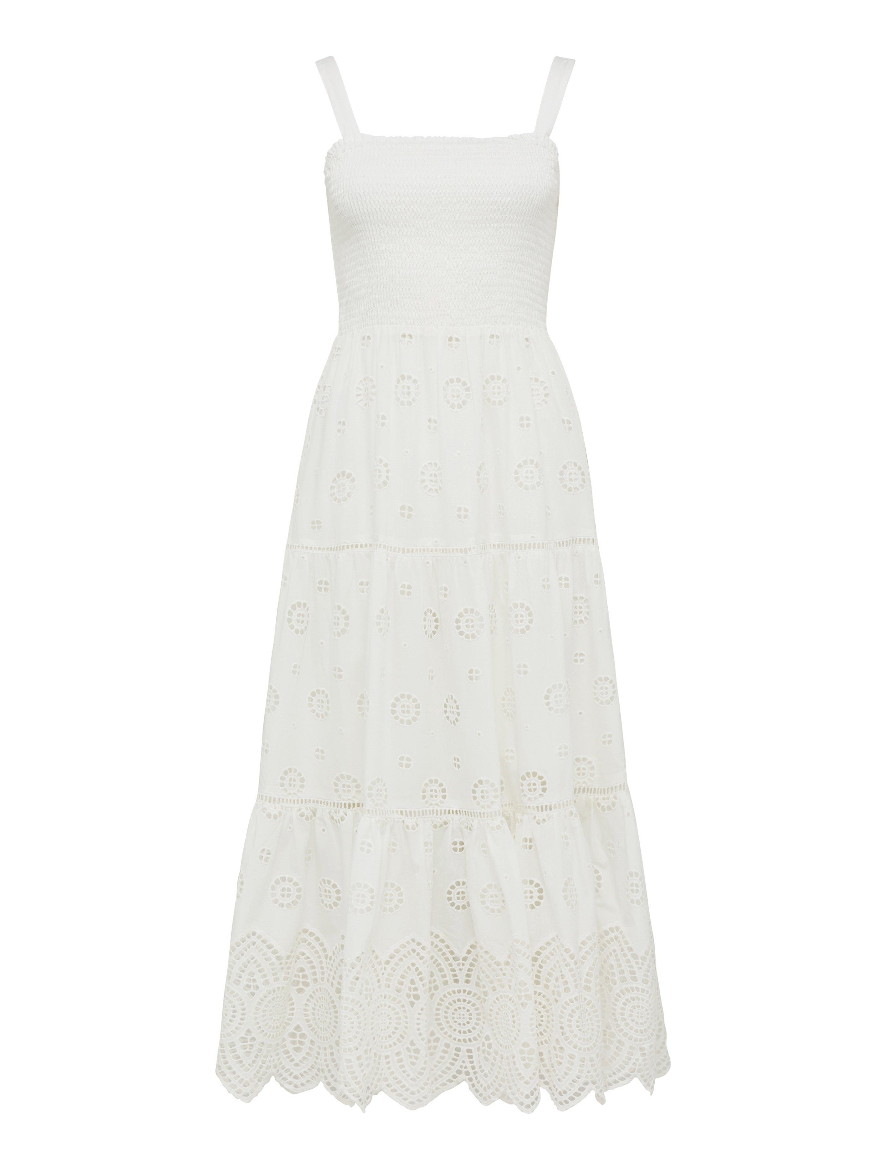 Loretta Shirred Midi Dress