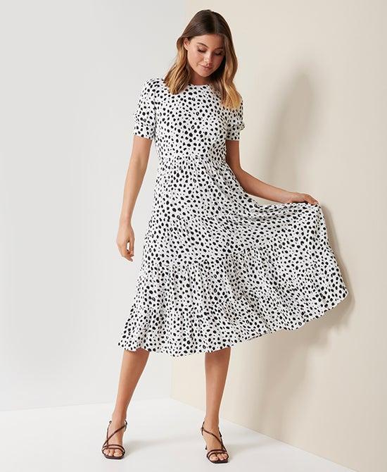 Forever New Printed Midi Dress