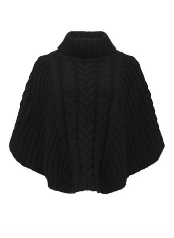 Mimi Cable Knit Poncho