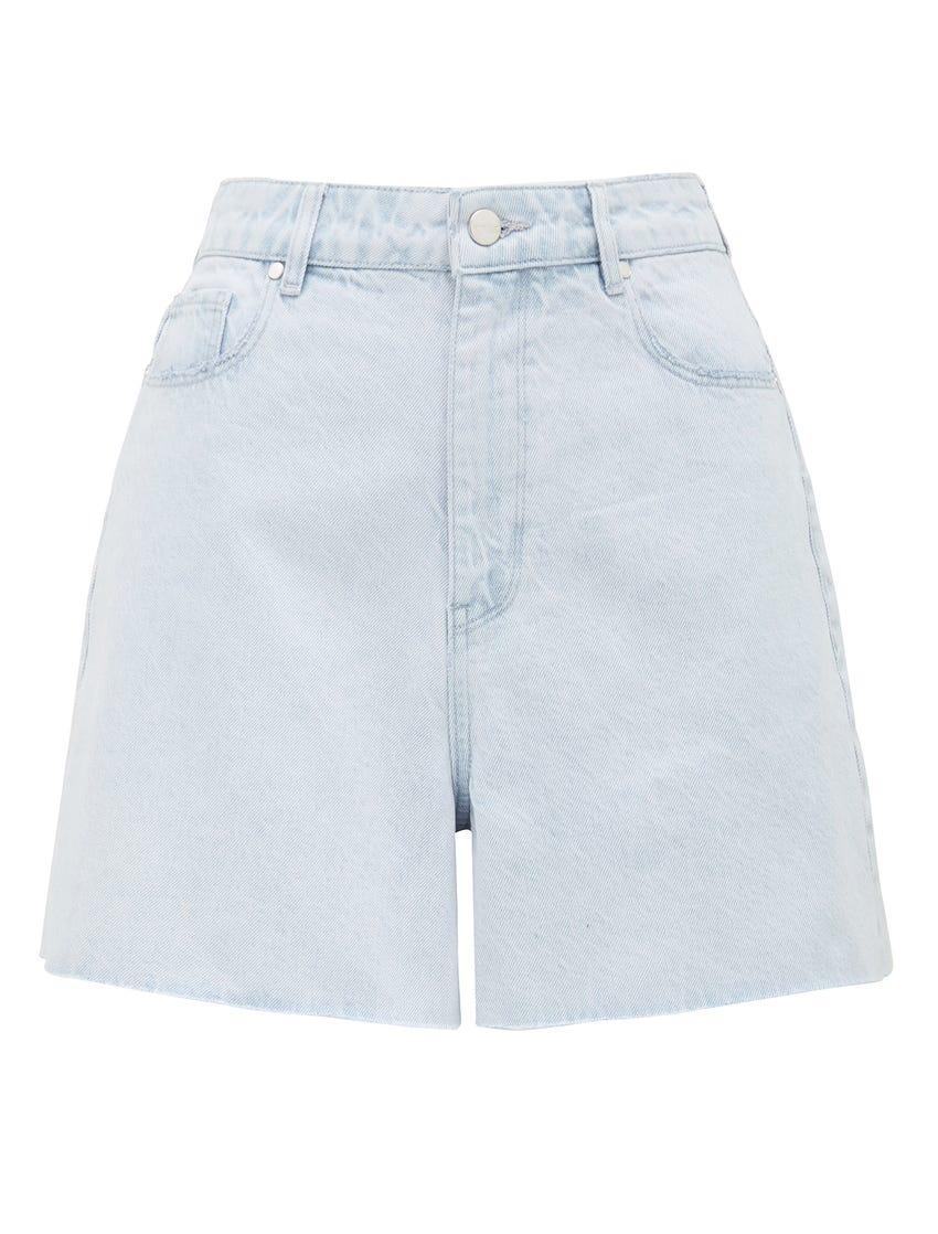 Miranda High-Rise Rigid Denim Shorts