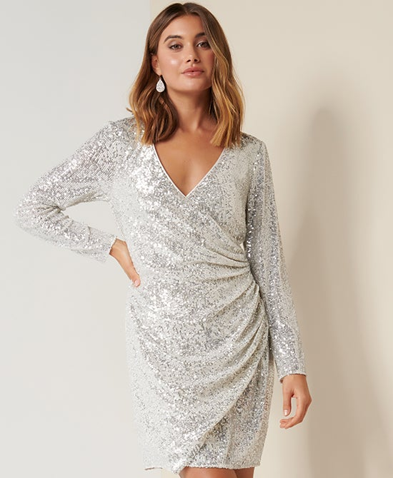 Forever New Party Sequin Mini Dress