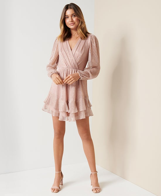 Forever New Pink Party Mini Dress
