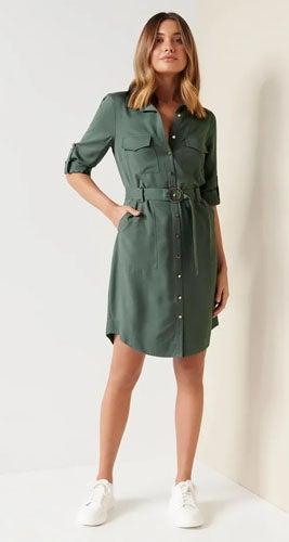 Portia Belted Shirt Dress