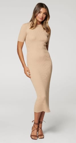 Yazmin Rib Tee Midi Knit Dress