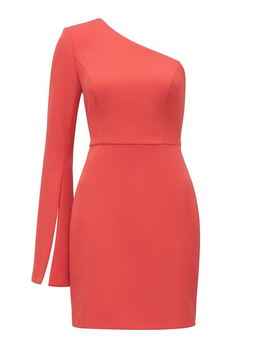 Sophia One-Sleeve Mini Dress
