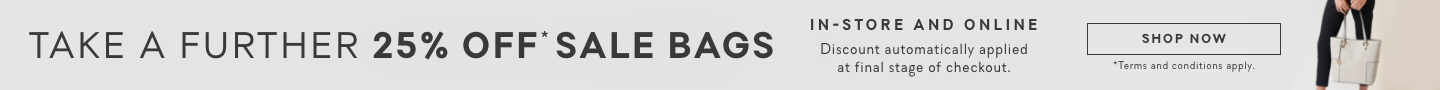 Take a further 25% off sale bags Forever New