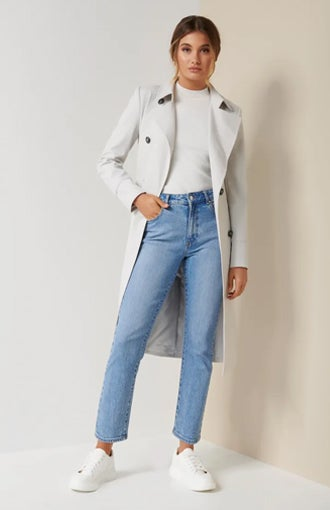 Tessa Mini Check Trench Coat