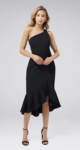 Slate One Shoulder Midi Dress