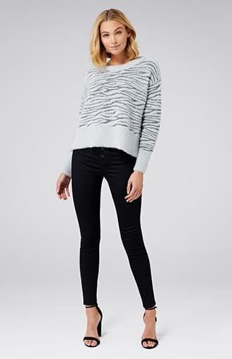 Debra Knitted Zebra Jumper