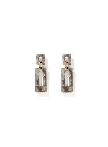 Delta Resin Link Drop Earrings