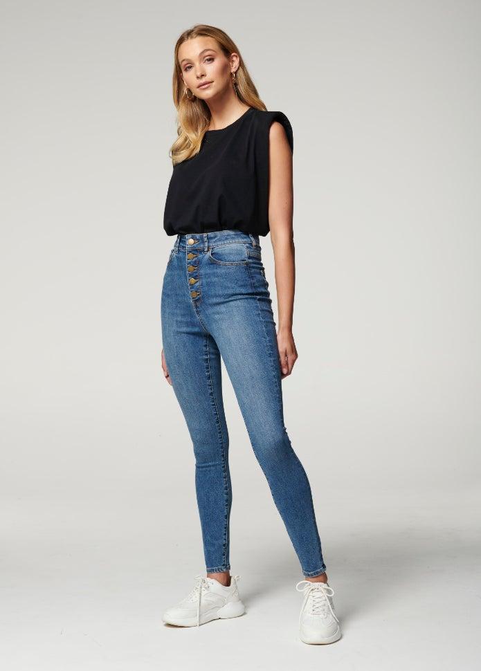 Heidi High Rise Ankle Grazer Jean