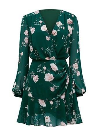 Eleanor Ruched Mini Dress