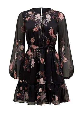 Lana Petite Lace Up Mini Dress