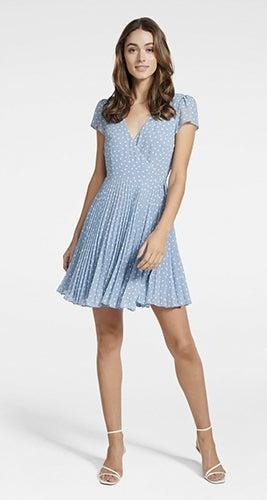 Sabrina Wrap Skater Mini Dress