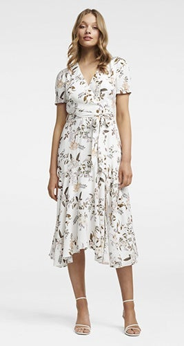 Azelia Hanky Hem Wrap Dress