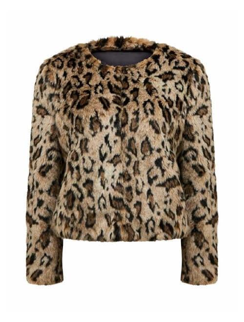 Jenna Leopard Faux Fur Coat